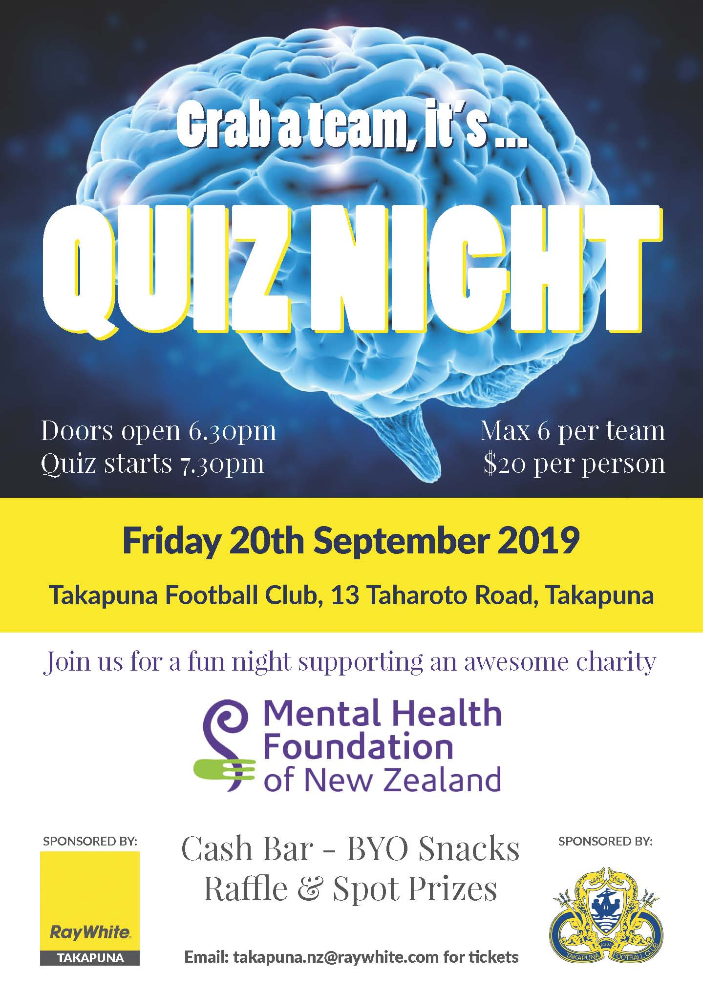 Quiz Night For The Mental Health Foundation Of New Zealand