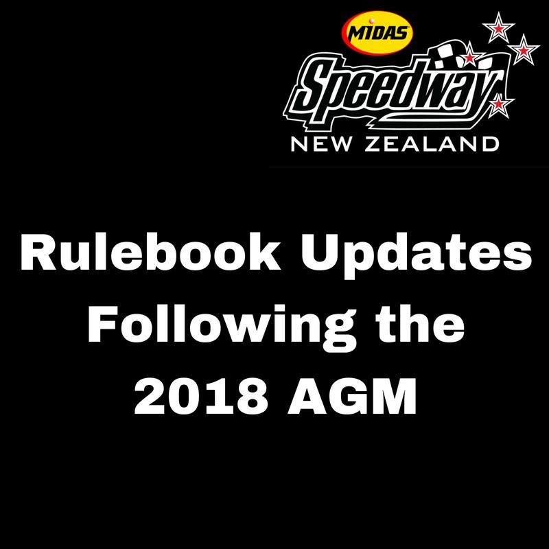 2018 Annual General Meeting - Rulebook Updates