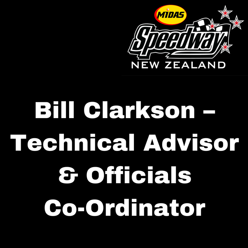 880cb4126108a Bill Clarkson – Technical Advisor   Officials Co-Ordinator