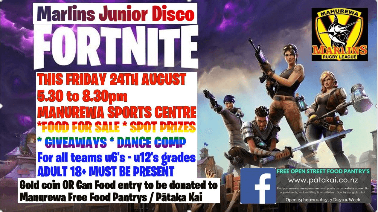 MARLINS JUNIOR DISCO = FORTNITE IS THE THEME