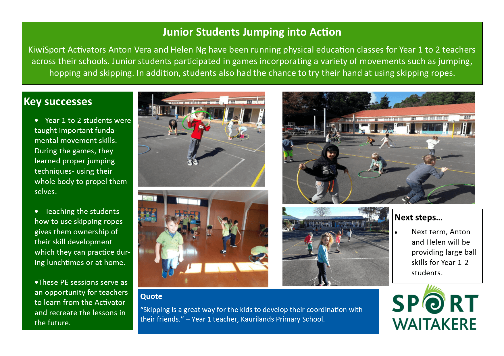 Junior Students Jumping into Action