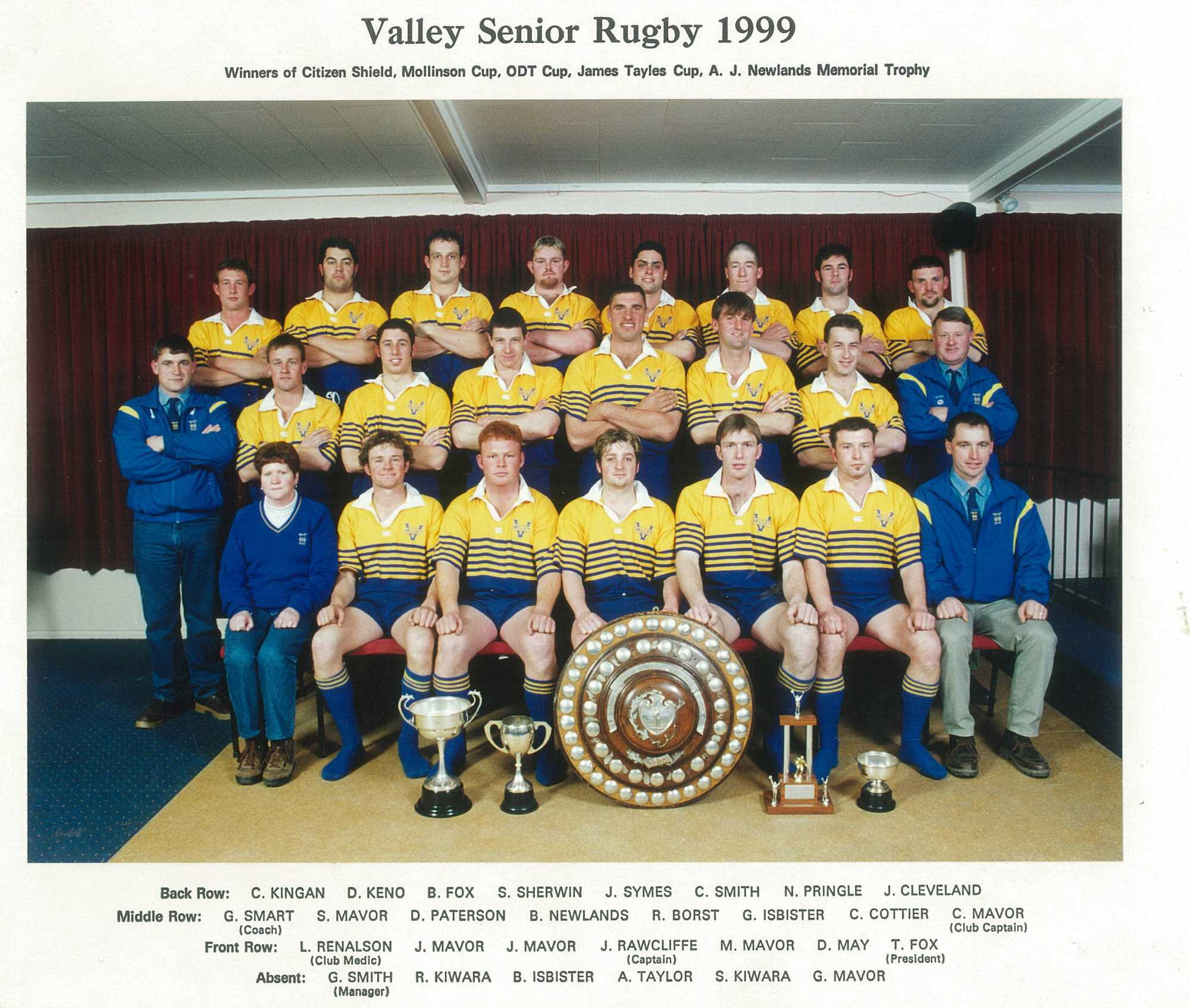 Valley Rugby Football Club - 1999