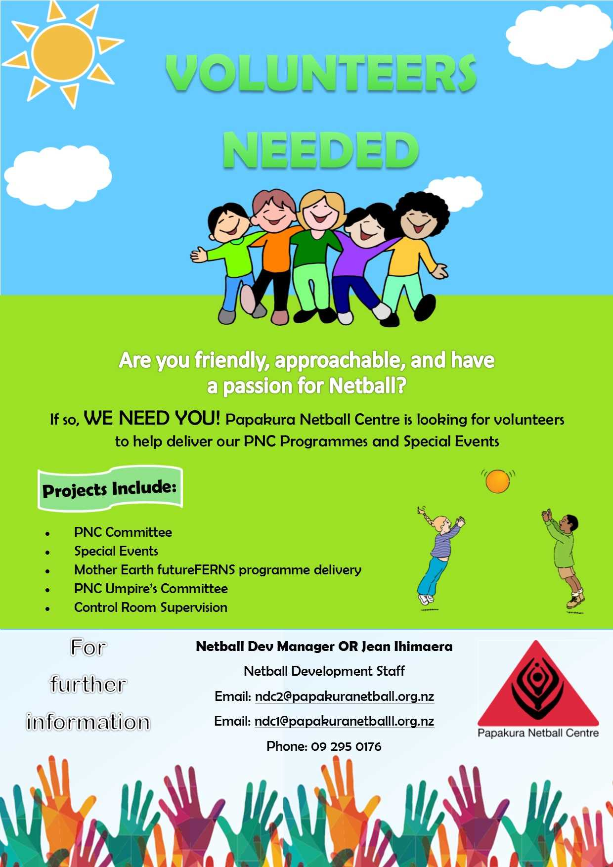 Papakura Netball Centre - Volunteers