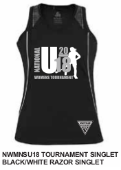 f8553a0b3 2018 U18WNS Singlet.  45.00. (Incl. Region Name Printing). Merchandise  Information - U18 Womens Association Tour 2018