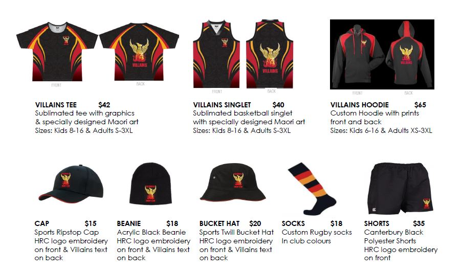 Helensville Rugby Football Club Merchandise